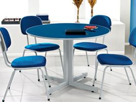 mesa de reuni o concept redonda mesas reuni o m veis para escrit rio smartflex m veis. Black Bedroom Furniture Sets. Home Design Ideas